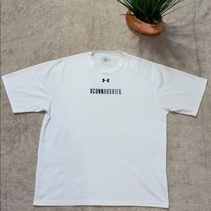 White Uconn huskies under armour tee